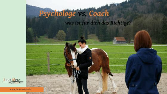 Psychologe vs. Coach